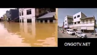 Ketinggian air banjir di Kuala Krai Kelantan (2014)