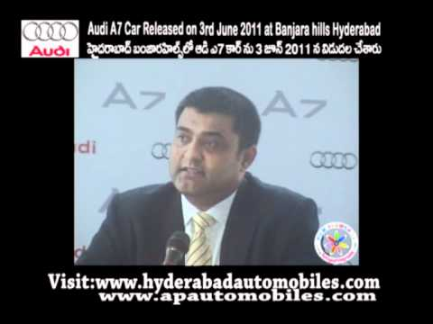 Audi India Head of Sales Anil Reddy Speech at audi a7 sportback car