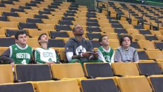 Isaiah Thomas plays NBA2K17 with group of 4 lucky kids