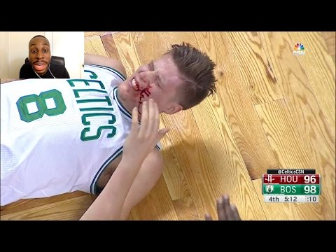 LMAOO!!! JAMES HARDEN IS HOOD!! HE LEGIT PIMP SLAPS JONAS JEREBKO AND MAKES HIM BLEED!! HAHAHA!
