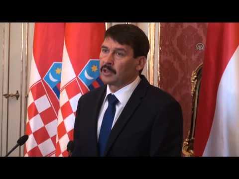 Croatian President Kolinda Grabar Kitarovic in Budapest