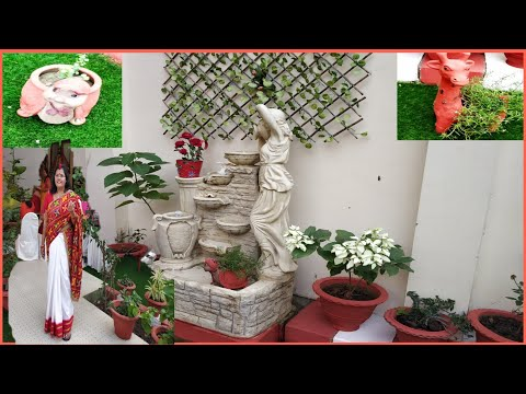 Overview of Small Beautiful Garden of my Friend /Garden decoration ideas/ Garden decoration items