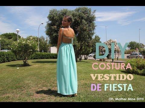 ab7105b30 DIY costura como hacer vestido de fiesta (patrones o moldes gratis ...