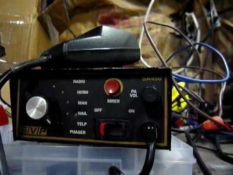 SVP SA-450 Siren Test with Whelen Speaker - YouTubeYouTube