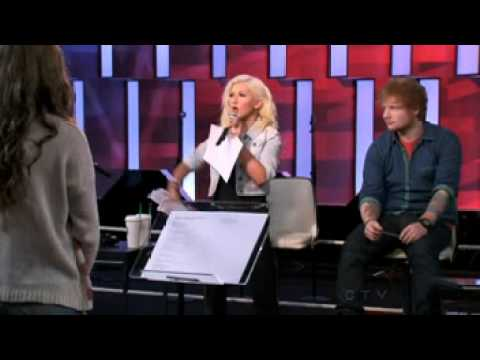 Christina Aguilera sings Not Ready To Make Nice while coaching