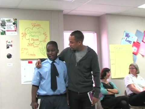 Hill Harper speaks at East Baltimore Community School