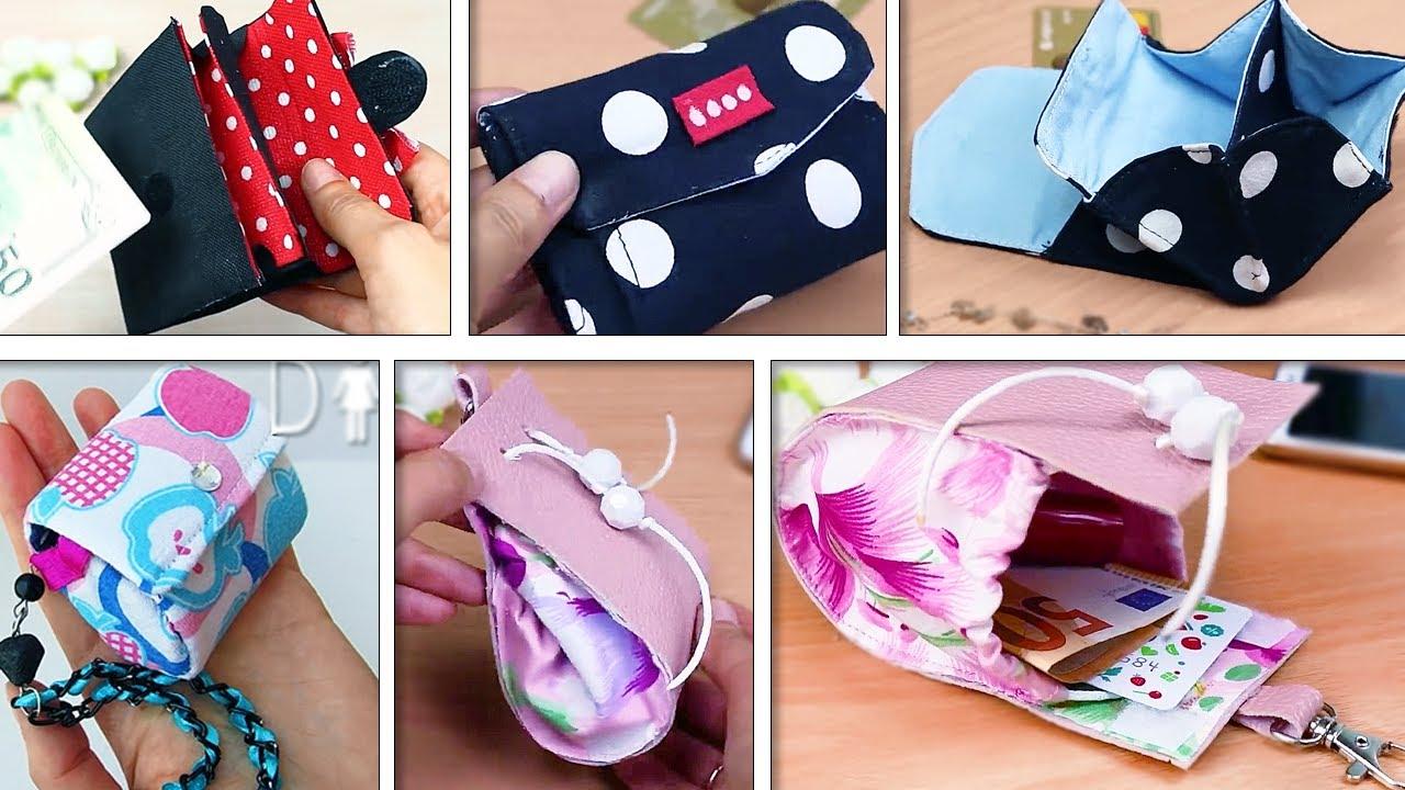 5 DIY TINY COINS POUCH TUTORIAL ~ Handmade Mini Bags Ideas