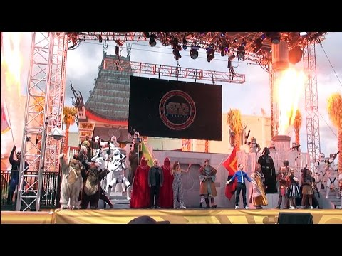 Star Wars Weekends 2015 Celebrity Welcome with All Characters, Ian McDiarmid, James Arnold Taylor