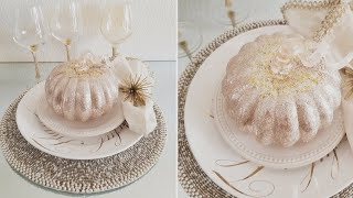 BLING AND GLAM FALL DECOR | TABLE SCAPE IDEA! | PIER 1 AND Z GALLERIE INSPIRED DIYS 2019