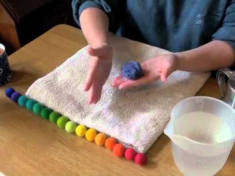 How To Make Felt Balls With Rachael Greenland Youtube
