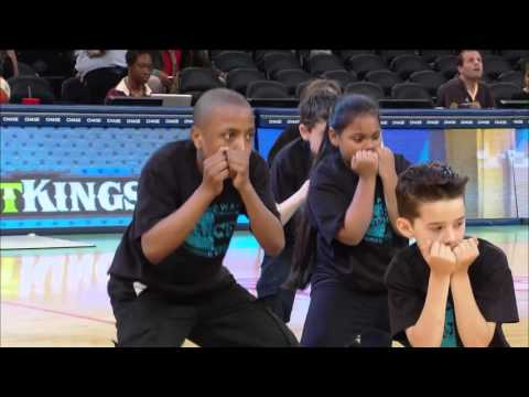 BROADWAY PERFORMING ARTS HALFTIME PERFORMANCE AT MADISON SQUARE GARDEN 2015