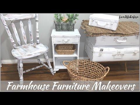 FARMHOUSE BEDROOM   Furniture Makeovers   3 Chalk Paint Techniques