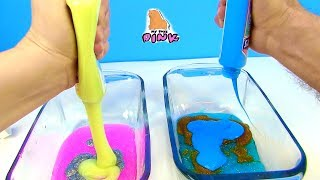 3 ЦВЕТНЫЙ ЛИЗУН ЧЕЛЛЕНДЖ 3 COLORS OF GLUE SLIME CHALLENGE! Kids Video Видео для Детей