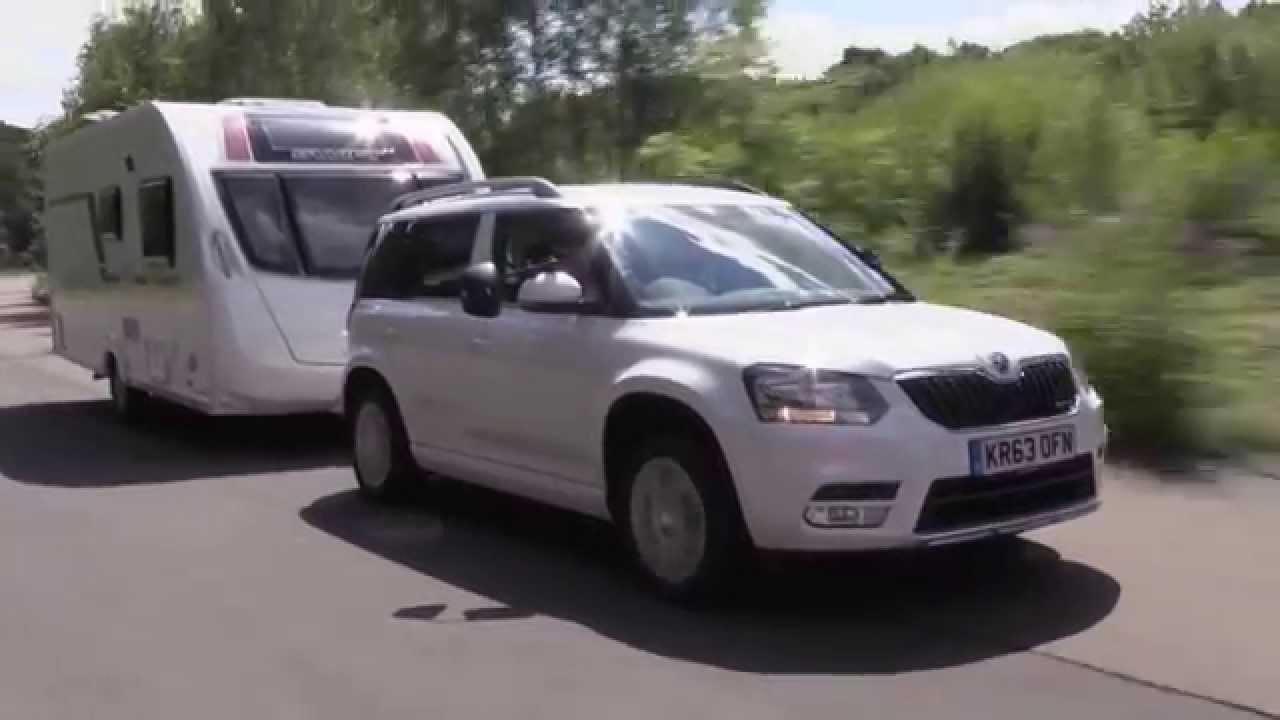 Practical Caravan Reviews The Skoda Yeti Greenline Ii Youtube