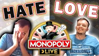 Love-Hate Relationship with Monopoly Live Wheel + BIG WIN!!