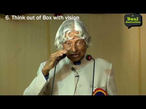 Apj Abdul Kalam 7 Rules of Success Inspirational Speech   Motivational Interviews