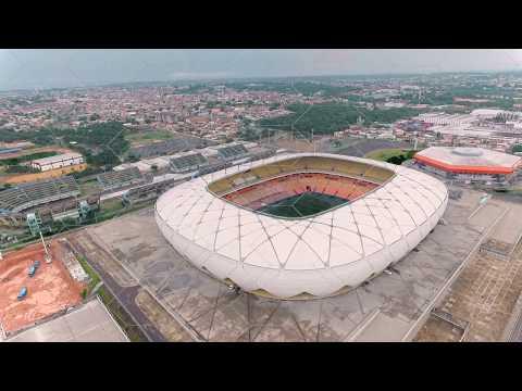 Drone Ponta Negra e Arena da Amazônia Imagens Aéreas Manaus Amazonas