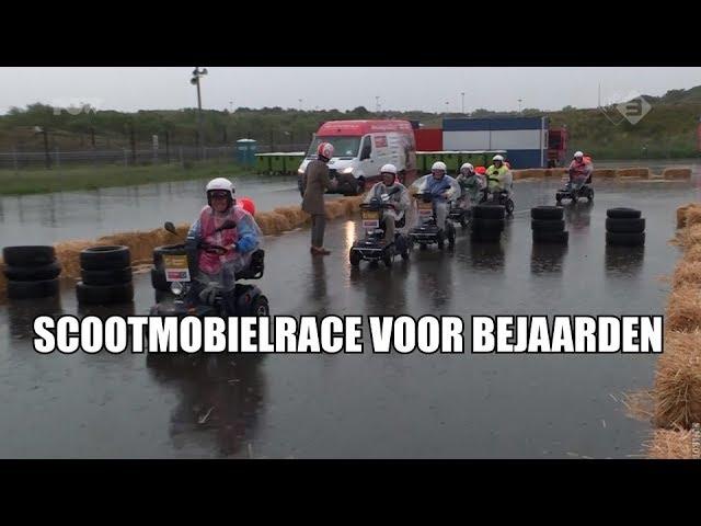 Nederlands Kampioenschap scootmobiel in het water gevallen