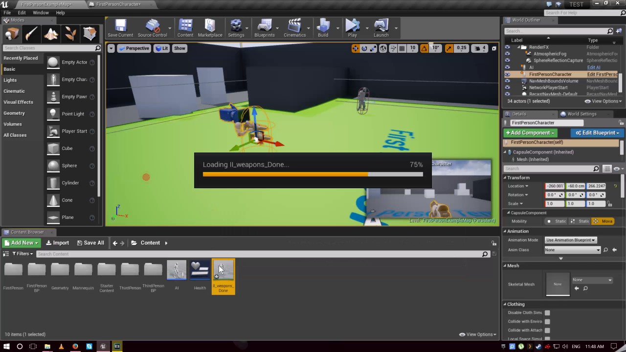 [Unreal Engine 4] How to play an animation by a button click