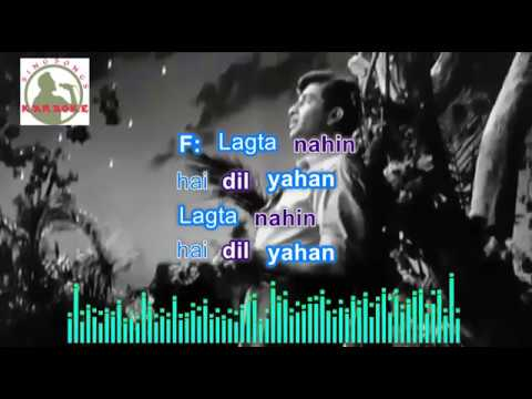 Aaja Sanam Madhur Hindi Karaoke For Male Singers With Lyrics