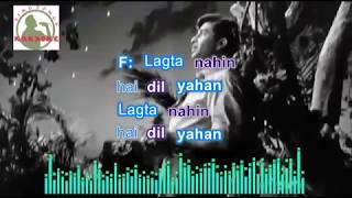 AAJA SANAM MADHUR hindi karaoke for Male singers with lyrics
