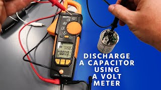 Can You Discharge a Capa¢itor Using a Volt Meter