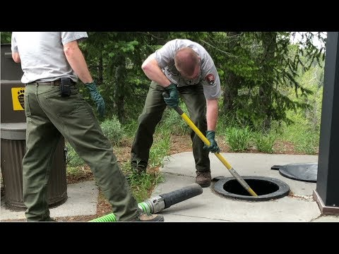 Septic Tank Servicer and Sewer Pipe Cleaner Career Video