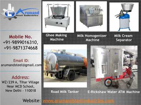 Arumand Steel Industries | Dairy Machinery Plant | Dairy Equipment Manufacturers