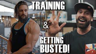 fibo chest back abs training   bradley martin arrested