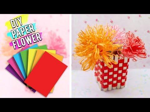 DIY Paper Flower | Art and Craft Ideas - Easy 5 Minutes DIY Craft Ideas.
