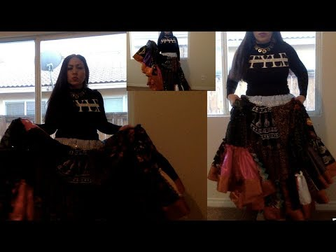 Gypsy Ruffled Maxi Skirt DIY: How to recreate from Scrapes(Part #2)