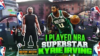 I PLAYED NBA SUPERSTAR KYRIE IRVING AT THE PLAYGROUND😳 GAME OF THE YEAR?! (MUST WATCH!!) 😱