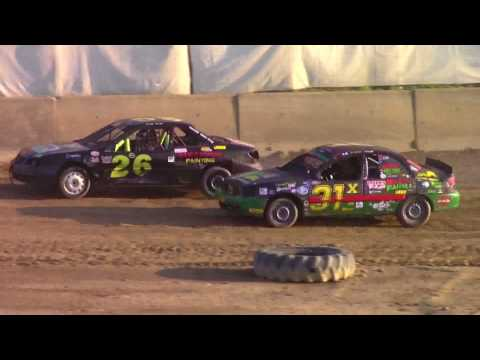 Old Bradford Speedway Mini Stock Heat Races 8-20-17