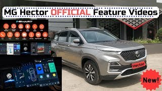 MG Hector Official Feature Videos iSmart Technology | Latest Videos by MG Motors India🔥