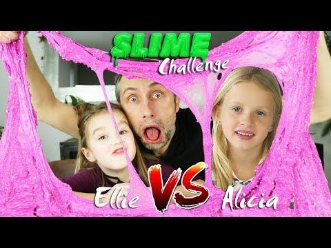 CHALLENGE SLIME avec ALICIA ! Ellie versus Alicia : Qui fera le plus beau Slime ?