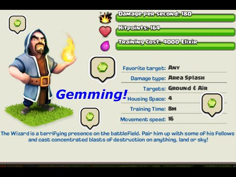 Clash of Clans - Gemming Wizards To Max Level + Epic ...  Clash