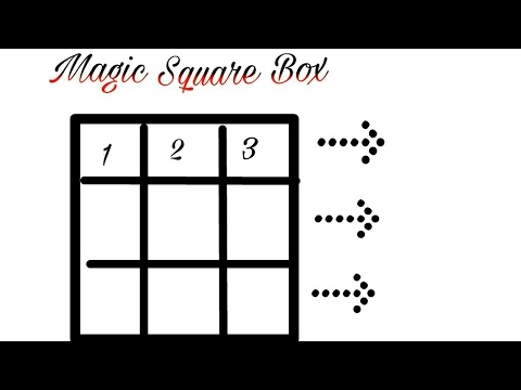 Magic Square 3x3 & 5x5 & 7x7 & 9x9 trick