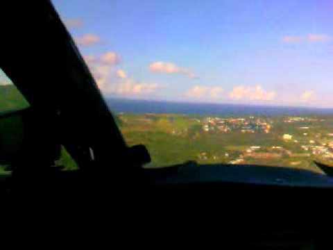 BN2 Islander Landing in St. Eustatius