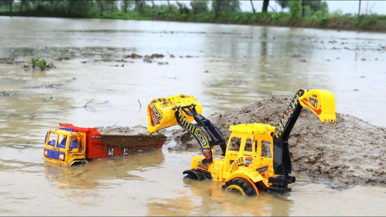 JCB Loading Field Deep Mud in Truck | Jcb Ki khudai | Jcb Truck | Cs Toy