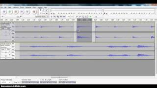 Moving a track in Audacity