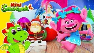 🎁 Trolle, Wielkie Jajko Kinder Niespodzianka na 🎅 Święta 🎄, Zabawki Dla Dzieci Po Polsku