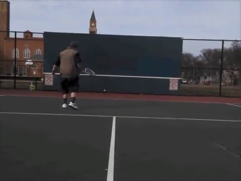 Bounce A Tennis Ball For an Hour - Raw Footage for World Record