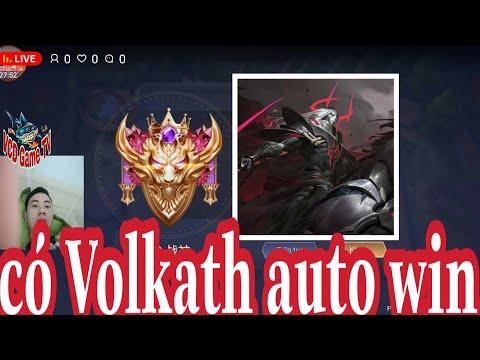 Livestream Liên quân mobile ngày mưa đá cực phê - cờ liên quân có Volkath auto win