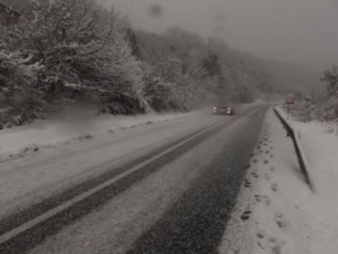 Raw: Winter Weather Hits Serbia, Snarls Traffic