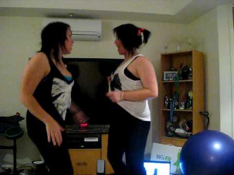 krystal brown and jess cobbin dancing to blah blah...