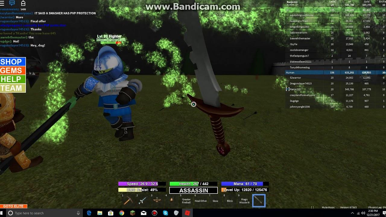 Roblox Field Of Battle Using Demonite To Buy Dark Assassin Blade