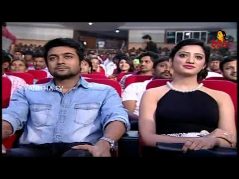 Hero Surya Enjoying Seeing Magic Show By Magician Ali At Surya's Memu Movie Audio Launch