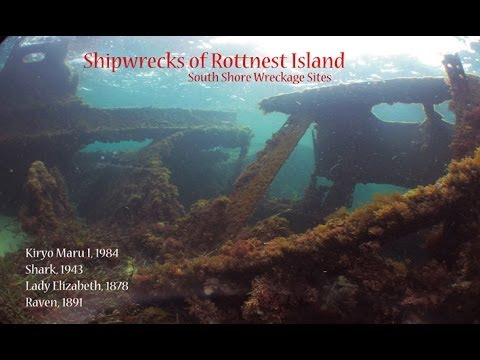 SCUBA diving. Rottnest Island, Southern Shore shipwreck sites 1878-1984.Perth, Western Australia