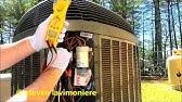 HVAC charging Trane XL 20i - YouTube