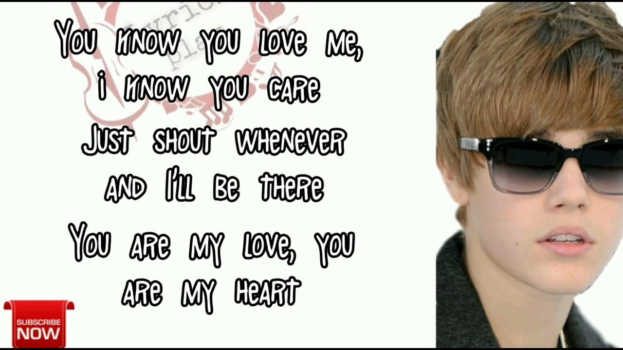 Baby baby song lyrics Justin Bieber/lyrics PLAY SS channel ...